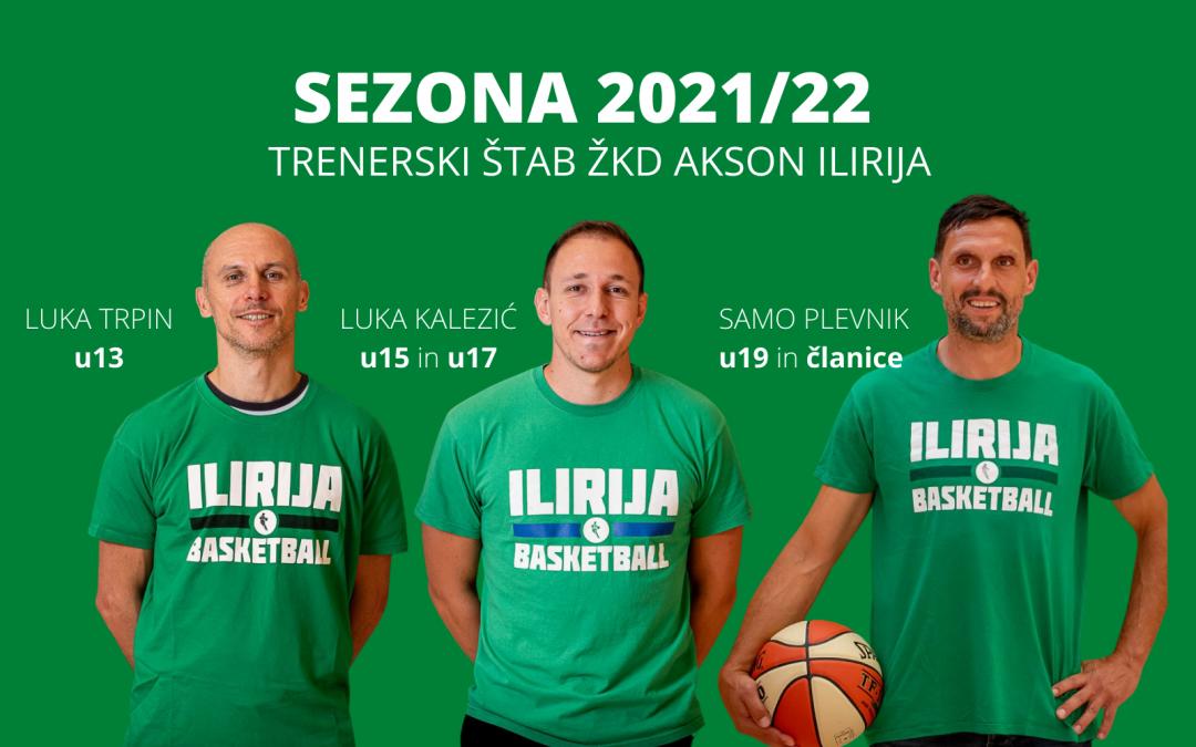 Trenerska zasedba v sezoni 2021/2022